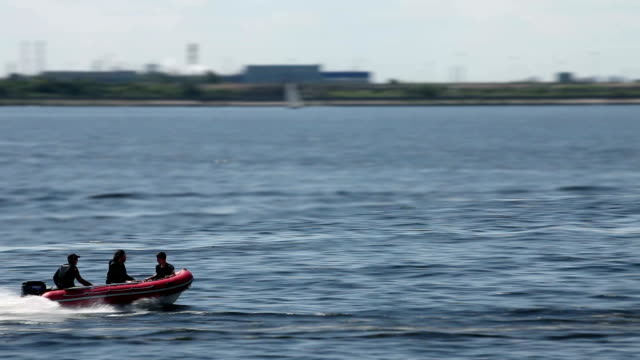 Rigid Inflatable Boat high speed video
