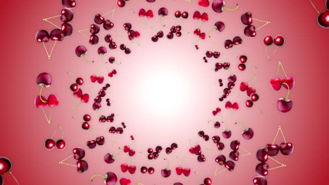 CHERRIES Ring Animation, Background, Loop, with Alpha Channel CHERRIES Ring Animation, Background, Loop, with Alpha Channel, 4k cherry stock videos & royalty-free footage