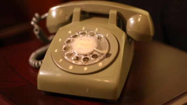 ringing retro phone green retro phone ringing landline phone stock videos & royalty-free footage