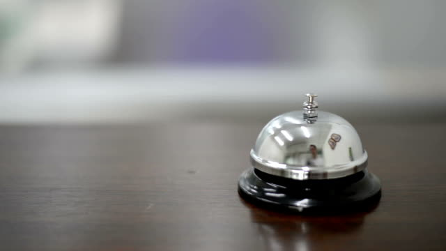 Ringing the bell to call at desk service video