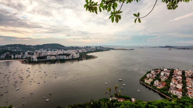 Rio Cityscape Time Lapse Panning video