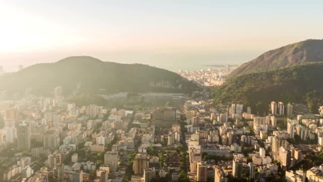 Rio Cityscape Time Lapse Sunrise Panning video