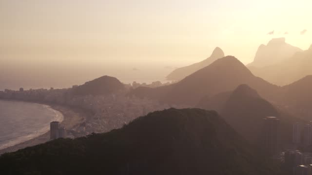 Rio de Janeiro, Brazil - Beautiful golden hour sunset Rio de Janeiro, Brazil - Beautiful golden hour sunset cristo redentor stock videos & royalty-free footage
