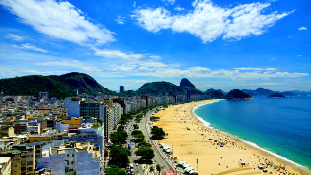 Rio De Janeiro, Brazil: Copacabana Rio De Janeiro, Brazil and Sao Paulo, Brazil sunrise, sunset, day/night time lapses and real-time footage series. cristo redentor stock videos & royalty-free footage
