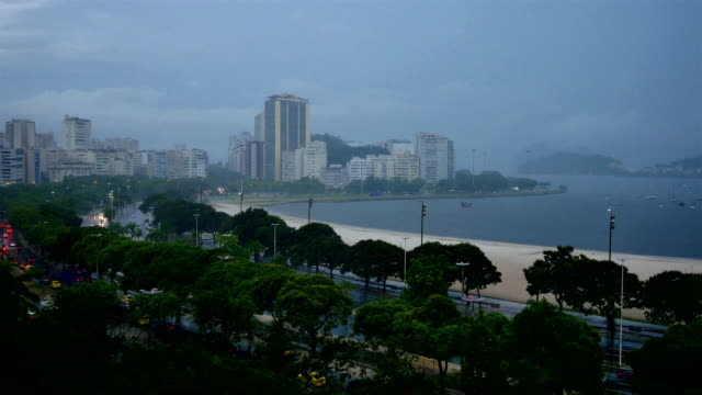 Rio De Janeiro, Brazil in heavy rain video