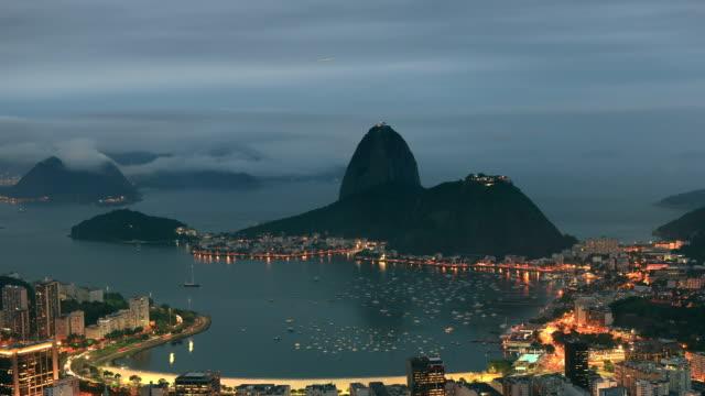 Rio de Janeiro Night Panorama video