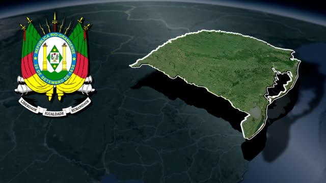 rio grande do sul vit vapensköld animation karta - brasilien flagga bildbanksvideor och videomaterial från bakom kulisserna