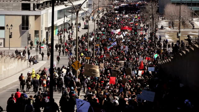Riot in the Montreal Streets to counter the Economic Austerity Measures.