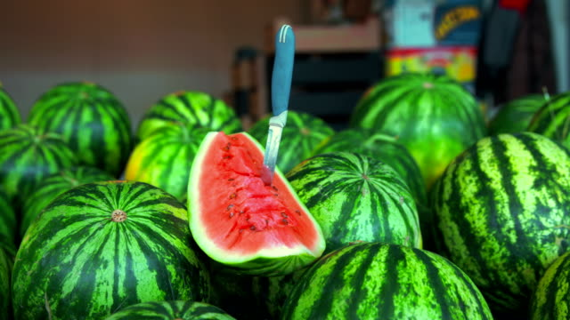 Ripe tempting watermelons video