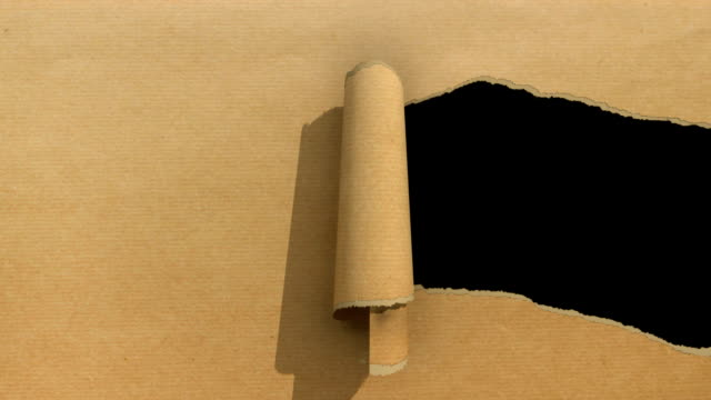 ripped paper brown video