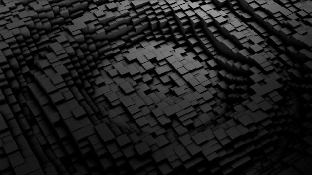 Ripple Digital background of the many black squares