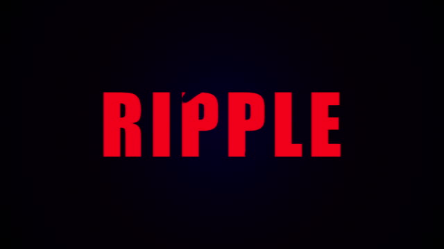 Ripple text. Liquid animation background