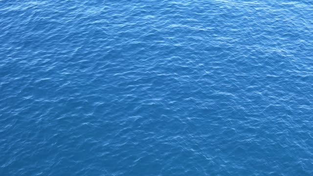 ripples on the blue surface of the sea - superficie dell'acqua video stock e b–roll