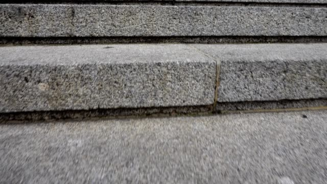 rise on steps to almudena cathedral, madrid. - concrete architecture stock videos & royalty-free footage