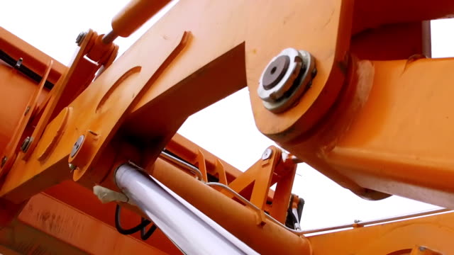 riseing of Excavator's Bucket riseing of Excavator's Bucket. Slow motion shot. construction equipment stock videos & royalty-free footage