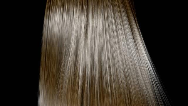 rising and shaking of blond hair in slow motion. - włosy filmów i materiałów b-roll