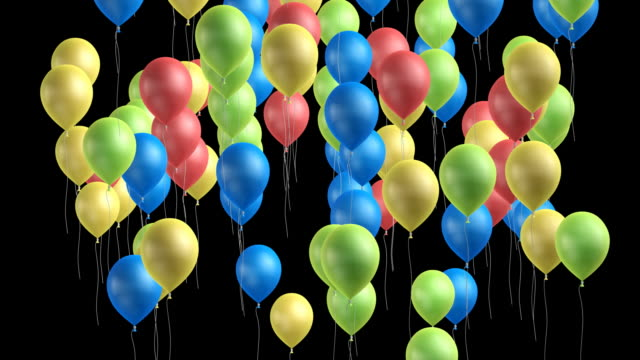 Rising Balloons HD 1080 video