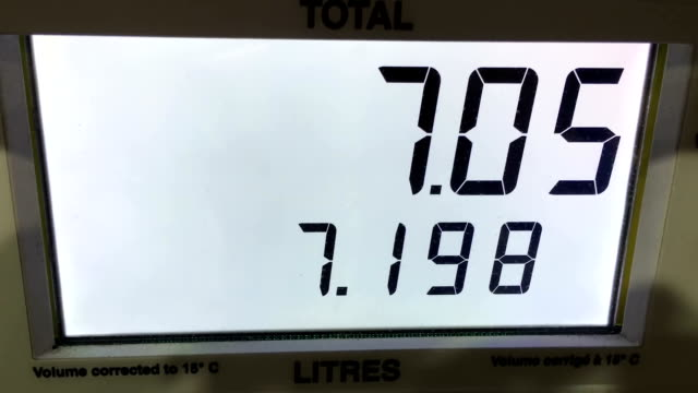 Rising gas prices on station pump scree video