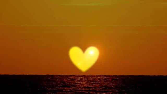 Rising hearth sun on the sea video