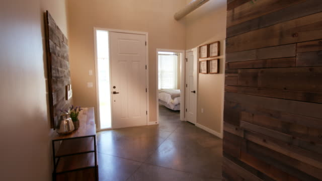 Rising Home Entrance Hallway with Wood Wall video