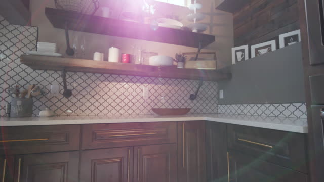 Rising Modern Kitchen Corner with Lens Flare video