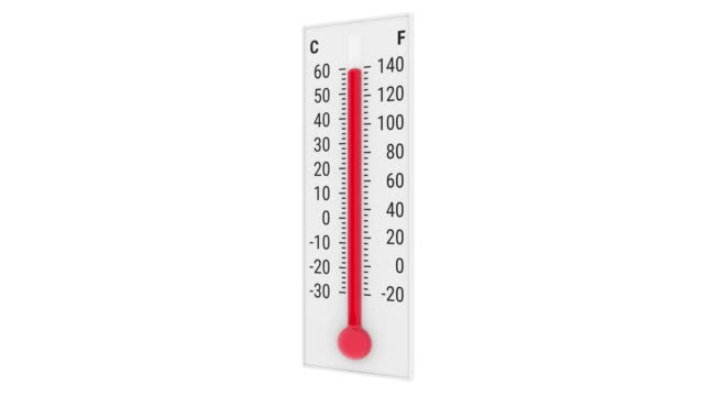 stockvideo's en b-roll-footage met stijgende thermometer - thermometer