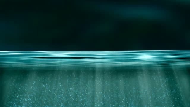 rising up through the waters surface - 水平面角度 個影片檔及 b 捲影像