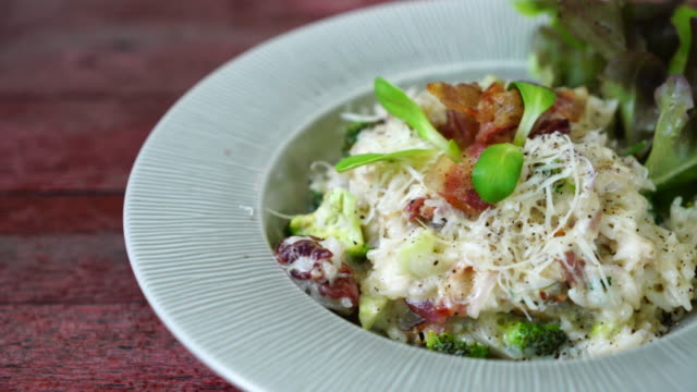 risotto rice with bacon video