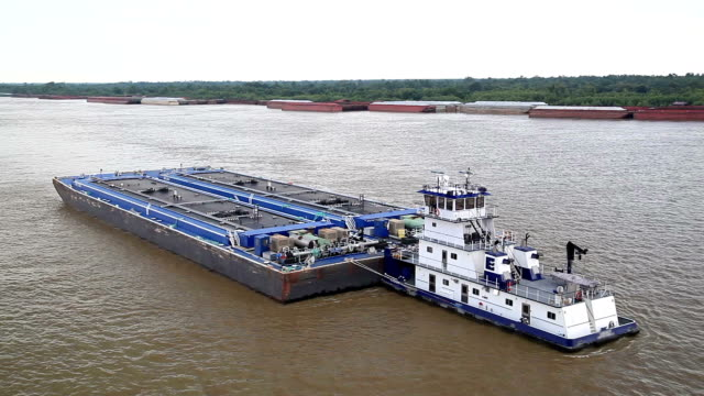 River barge video