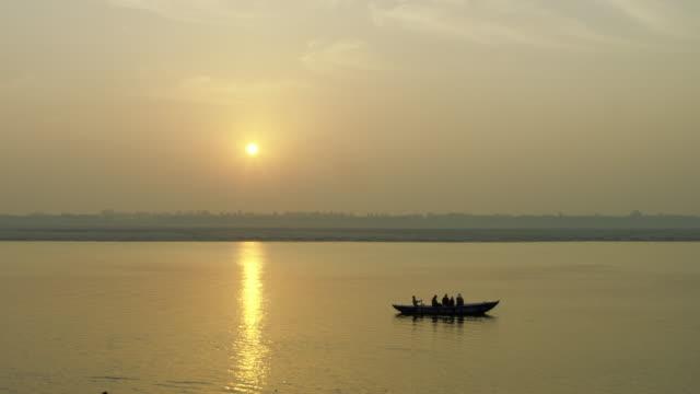 River boat at Ganges video
