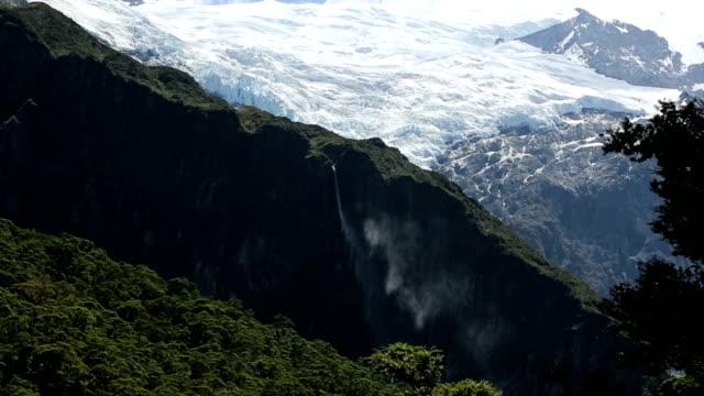 River in Rob Roy Glacier Track, Wanaka, New Zealand video