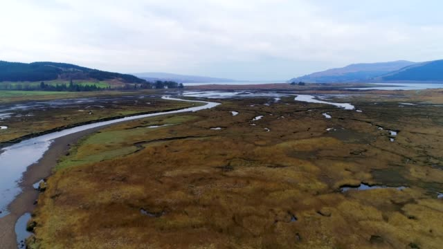 River, lochs and hills on the Isle of Mull, Scotland video