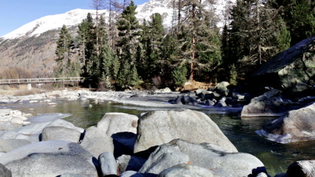 River Ova de Roseg in Switzerland video