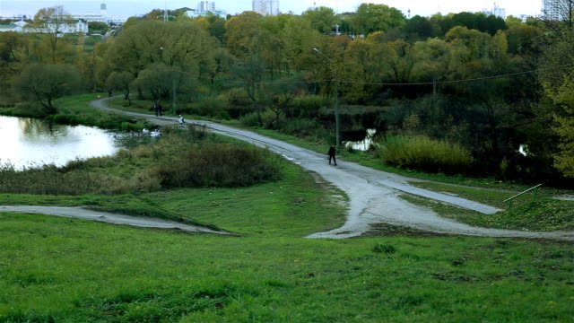 River panorama. Minsk Belarus video