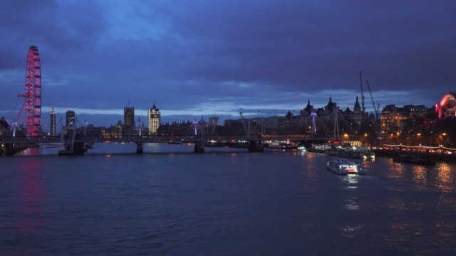 River Thames Westminster and South Bank Time Lapse video