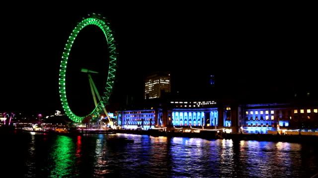 HD: River Thames with London Eye video
