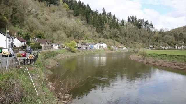 River Wye near Tintern Abbey and Chepstow Wales uk video
