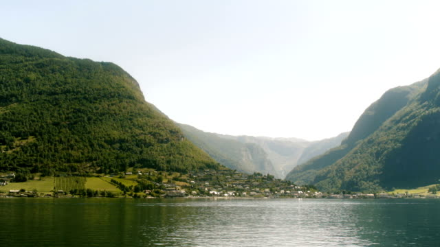 Riverside Town in the Norway Fjords