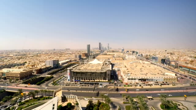riyadh, saudi arabia landscape  time-laps - arabia saudita video stock e b–roll