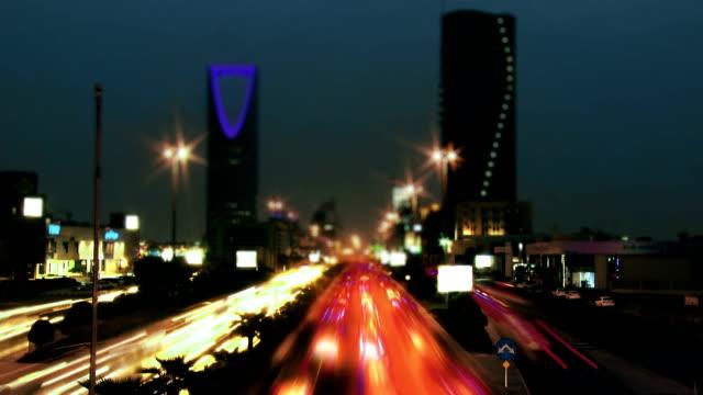 riyadh,  saudi arabia tim elapse - arabia saudita video stock e b–roll