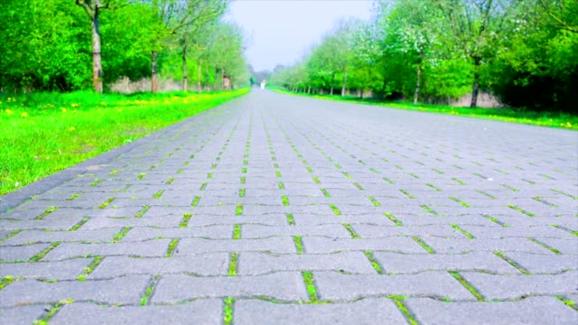 road a stone blocks road a stone blocks low angle view stock videos & royalty-free footage