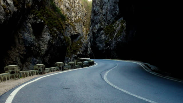 road at the famous romanian canyon Cheile Bicazului video