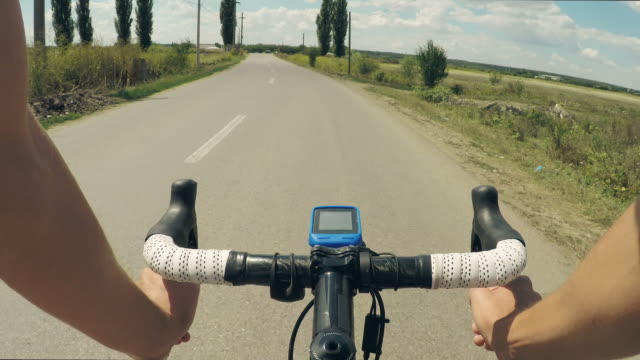 Road bike POV. video