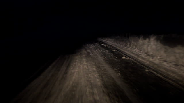 road by night from the windshield video