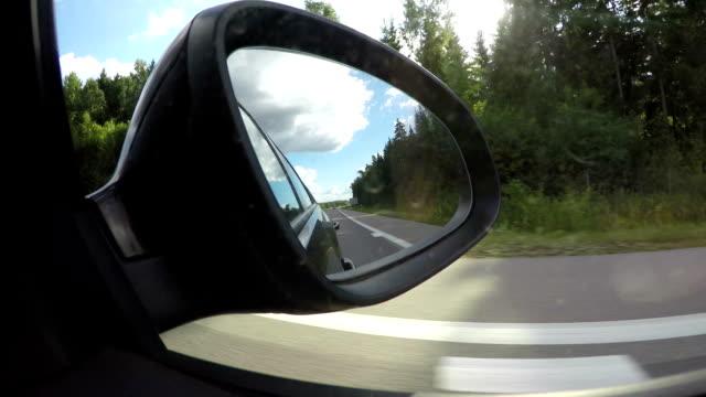 Road filmed from inside of going car video