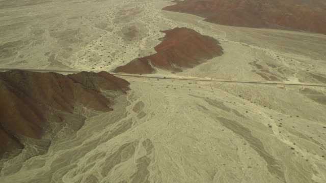 Road in Nazca Desert Aerial View video