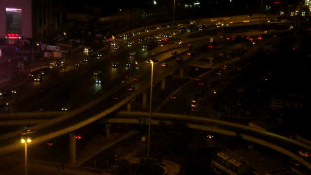 Road Intersection at Night video