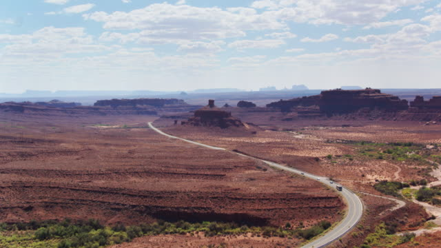 Road Into Monument Valley - Drone Shot video