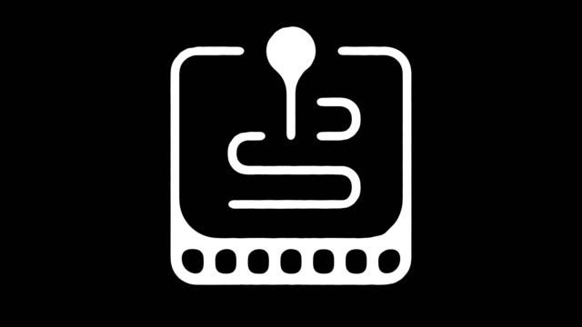 stockvideo's en b-roll-footage met routekaart navigator blackboard lijn animatie met alpha - roadmap