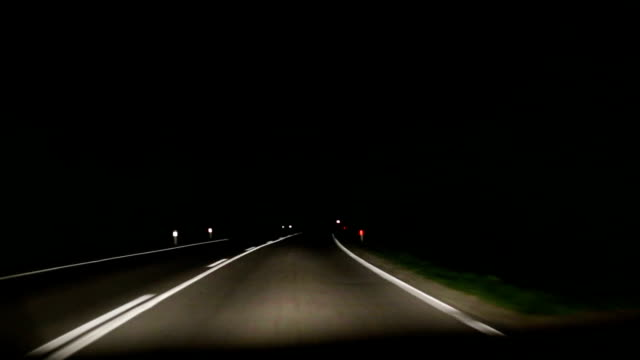 Road night video